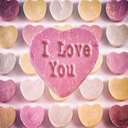 Candy Hearts I Love You Stock Photos