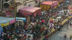 Time-lapse of Indian Sikh Festival in New Delhi Stock Footage