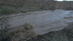 Desert flood og stream slow HD 24P Stock Footage
