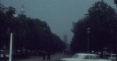 Berlin 1970 70s Unter den Linden TV Tower Street Scene Stock Footage