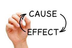 cause and effect concept - stock photo