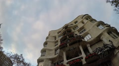 Casa Mila in Barcelona, Spain Stock Footage