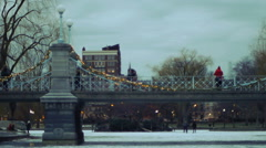 Boston During Winter Stock Footage