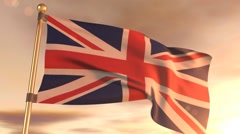 England Flag  Stock Footage
