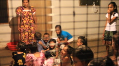 Kids in Micronesia Learning at Local Children's Club - stock footage