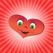 Heart girl character Stock Illustration