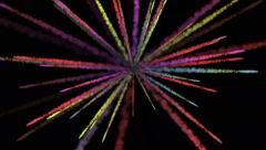 4k Abstract smoke radiation lines background,science fiction particle firework. Stock Footage