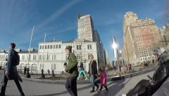 Pier 5, Manhattan, Liberty Tower view Stock Footage