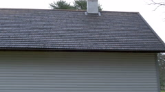 The newly built house with a shingle roof Stock Footage