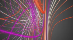 Fantastic video animation with stripe wave object in motion, loop hd 1080p Stock Footage