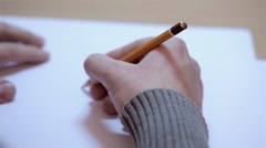 Stock Video Footage of Artist drawing a sketch