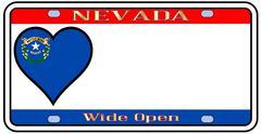 Nevada license plate Stock Illustration