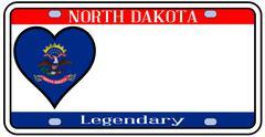 north dakota license plate - stock illustration