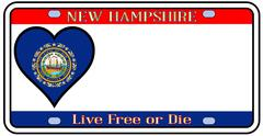 New hampshire license plate Stock Illustration