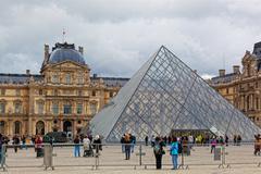 Stock Photo of panorama Louvre, paris, france