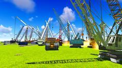 Construction site Stock Illustration