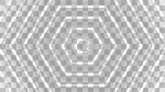 hexagon shadow stripe with alpha  - stock footage