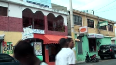 Dominican Republic La Romana Caribbean Sea 042 colorful but shabby houses - stock footage