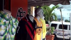 Dominican Republic La Romana Caribbean Sea 039 mannequin at a clothes shop Stock Footage