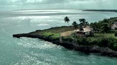 Dominican Republic La Romana Caribbean Sea 034 the bay in bright sunlight Stock Footage