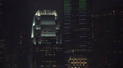 Hong Kong International Financial Centre Pearl of Orient Central Night IFC Stock Footage