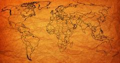 oman territory on world map - stock illustration