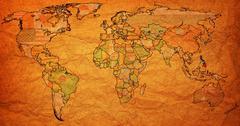 philippines territory on world map - stock illustration