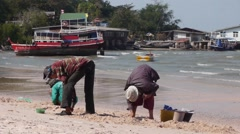 Stock Video Footage Folk Craft. Thailand Fishing Outdoors, Harvesting Stock Footage