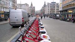 Antwerp City Centre 1 Stock Footage