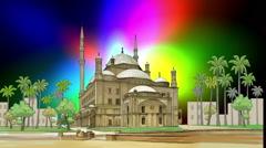 Ali Pasha Mosque Egypt Cairo Stock Footage