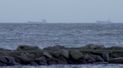 Vessels at Baltic Sea Germany Stock Footage