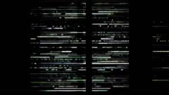 Digital Numbers multiplied With TV Lines Passing Stock Footage