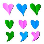Hearts icons Stock Illustration
