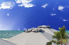 vacation idyll - stock photo