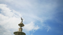Angel Statues with clouds running background. Stock Footage
