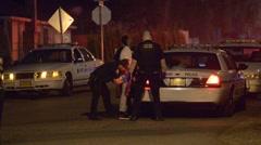 man in custody - stock footage