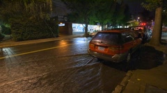 Flooded City Streets Stock Footage