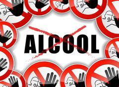 no alcohol concept illustration - stock illustration