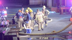 Firefighters at work Stock Footage