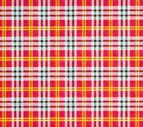 fabric with a checked pattern in red tones - stock photo