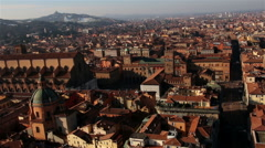 Italy. Old Bologna, Piazza Maggiore. Zoom. Stock Footage