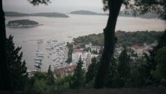 Stunning views of the island of Hvar in Croatia Stock Footage