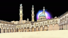 Egypt Cairo Al-Azhar Mosque Stock Footage
