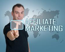 Stock Photo of affiliate marketing.