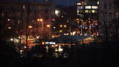 intensive traffic flow at night in the city - stock footage