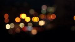 Nightlife city with flashing lights (blur) Stock Footage
