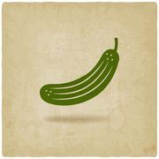 Cucumber symbol Stock Illustration