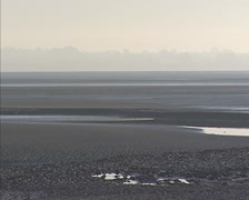 Flood current, incoming tide at tidal bay Stock Footage