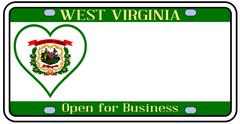 west virginia license plate - stock illustration