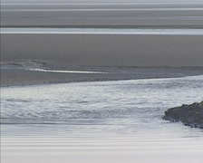 Flood current, incoming tide at tidal bay - full screen Stock Footage
